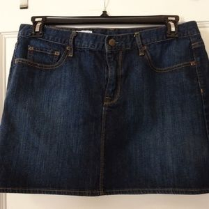 Gap Denim Mini Skirt Women's Size 10 Dark Wash